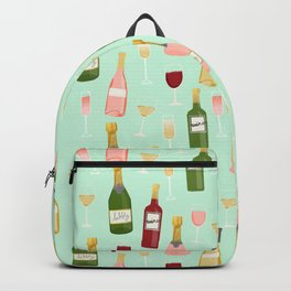Rose drinks champagne wine bar art food fight apparel and gifts mint Backpack