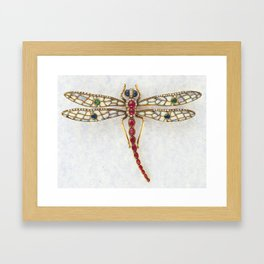 DRAGON FLY IN JEWELS Framed Art Print