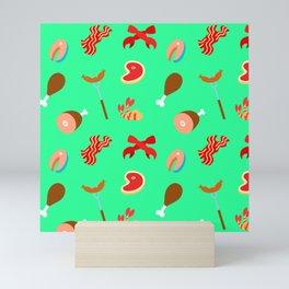 Meat Pattern Mini Art Print