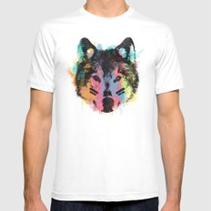 Wolf Child Mens Fitted Tee White MEDIUM