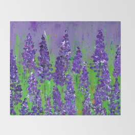 Fields of Lupine - Flowers Throw Blanket