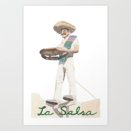 La Salsa Man Art Print