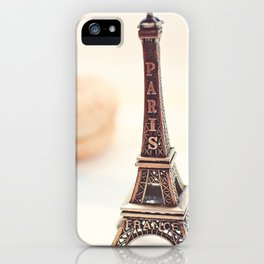 Macaron and Mini Eiffel Tower iPhone Case