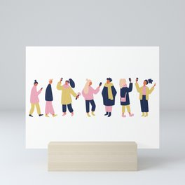 Social Media People Mini Art Print