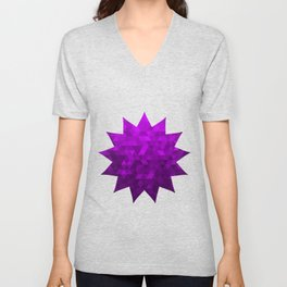 Kwan Yin's Star | Purple Flame | Compassion Unisex V-Neck