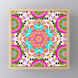 fearless fiesta eyes mandala Framed Mini Art Print