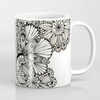 alisa burke Mugs featuring lace inspired by Alisa Burke