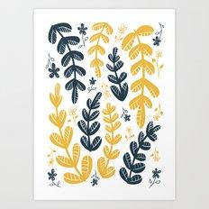 Yellow Leaves Art Print