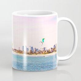 Windsurfing at St Kilda Coffee Mug