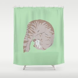 Buff Tiger Shower Curtain