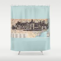 north carolina Shower Curtains featuring North Carolina by Ursula Rodgers