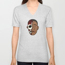 Faces of Breaking Bad: Gustavo Fring (Face-Off) Unisex V-Neck