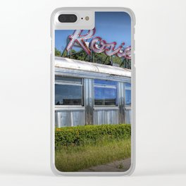 Historic Rosie's Diner by Rockford Michigan Clear iPhone Case