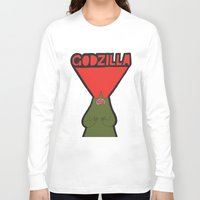 godzilla Long Sleeve T-shirts featuring Godzilla by evannave