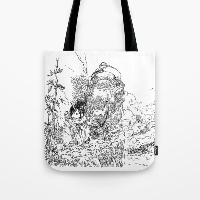 a5ba16d0701b Promenade dans la montagne - Walking in the mountains Tote Bag by  bouletcorp