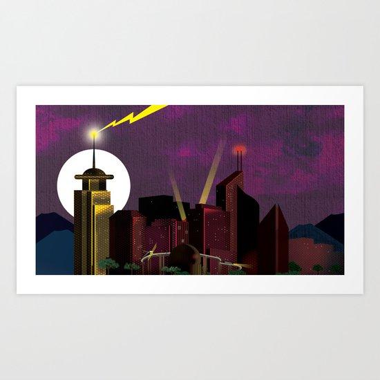 Electricityscape Art Print