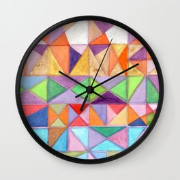 Fresh and Warm Triangle Pattern Wall Clock