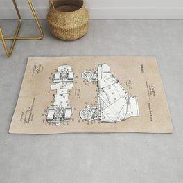 patent art Plimpton Roller Skate 1907 Rug