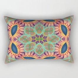 Jeweled Sphere Abstract Geometric Print Rectangular Pillow
