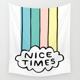 Nice Times Rainbow Wall Tapestry