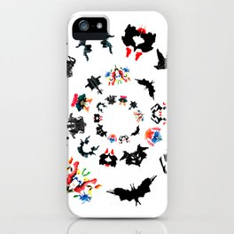 circle of Rorschach test Ink blots ! iPhone Case