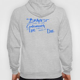 Continue Living Scribbled Insprational Quote Hoody