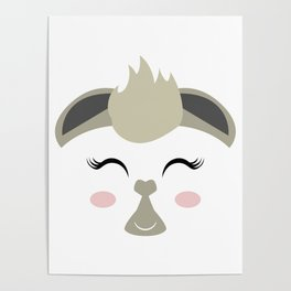 THE LAMA FACE Poster