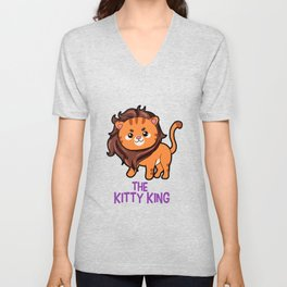 The Kitty King Lion long mane wig cute cartoon Unisex V-Neck