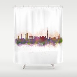 Berlin City Skyline HQ1 Shower Curtain