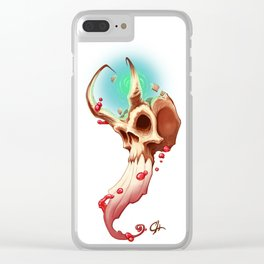 Horned Skull Clear iPhone Case