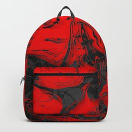 Black & Red Marble Backpack