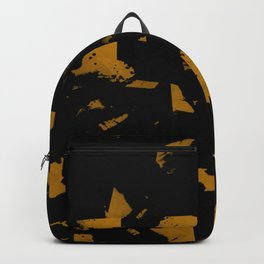 Looking For Gold - Abstract gold and black painting Backpack