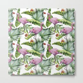 Flamingo Jungle #society6 #buyart Metal Print