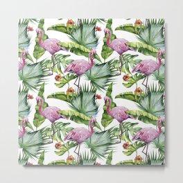 Flamingo Jungle #society6 #buyart Metal Print