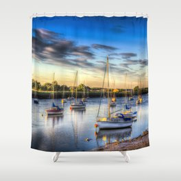 River at Sunset Shower Curtain