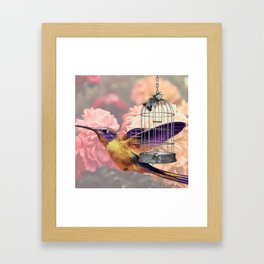 Too Wild for a Cage Framed Art Print