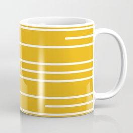 Minimal, Geometric, Line Art Stripes, Mustard Yellow Coffee Mug