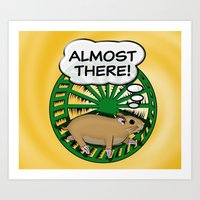 """Almost There"" - Hamster In The Wheel Art Print"