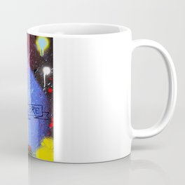 SKULL WHITE MUSTACH Coffee Mug