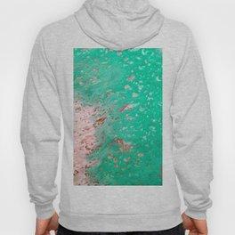 Aqua Fluid Abstract Art Print Hoody