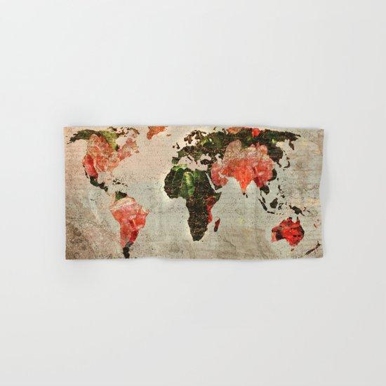 Vintage World Map Hand & Bath Towel