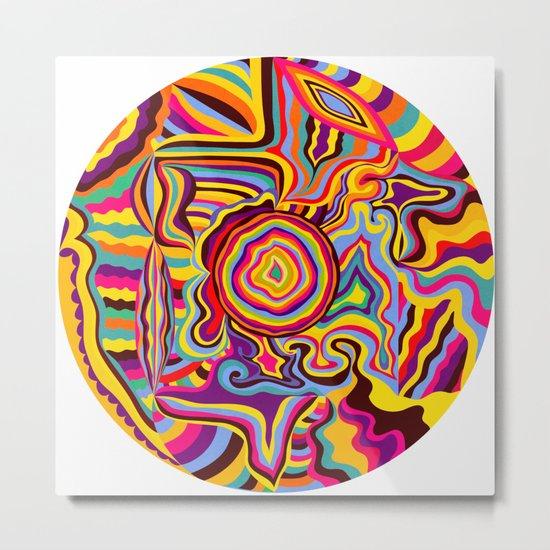 The Dancing Colors Metal Print