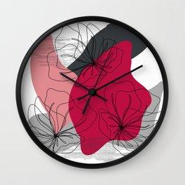 Abstract Cherry Blossom Wall Clock