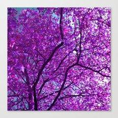 purple tree XXXI Canvas Print