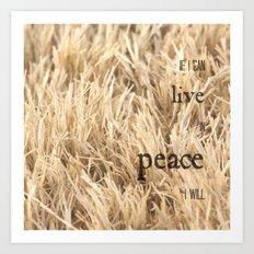 Live in Peace Art Print