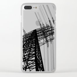 Power Lines Clear iPhone Case