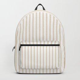 Almond Baby Camel Mattress Ticking Narrow Striped Pattern - Fall Fashion 2018 Backpack