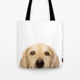 Golden retriever Dog illustration original painting print Tote Bag