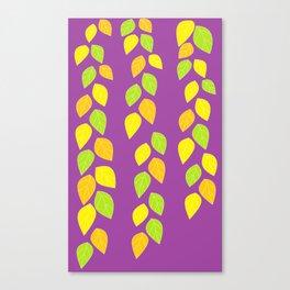 violet leaves Canvas Print