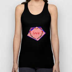 heart of flowers Unisex Tank Top